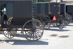 Cochecillos de Amish   Foto de archivo