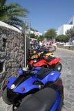 Cochecillos de Mykonos - islas griegas Foto de archivo libre de regalías