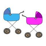 cochecito de niño c del niño del icono del niño del carro del vector del ejemplo del bebé Fotos de archivo libres de regalías