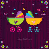 Cochecitos de bebé lindos Foto de archivo libre de regalías