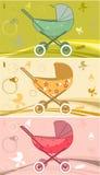 cochecitos de niño para el bebé Imágenes de archivo libres de regalías