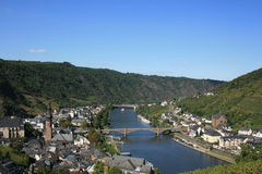 Cochem. Overlooking Cochem Germany and the Moselle River stock photo