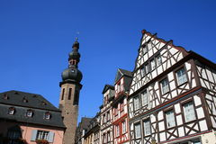 Cochem. German architecture in the village of Cochem Stock Image