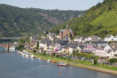 Cochem along river Moselle in Germany Royalty Free Stock Photography