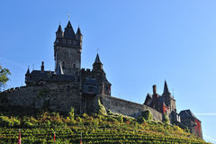 Cochem castle architecture. Towers and stone walls Stock Image