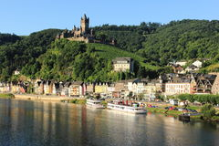 Cochem castle and old town - city wiev Stock Photo