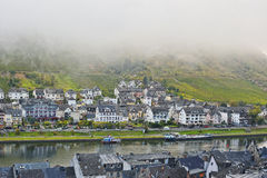 Cochem city in the morning day cover by the fog Stock Photo