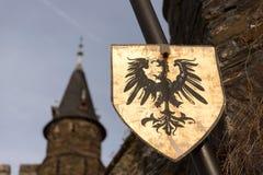 Cochem de château sur la rivière Allemagne de la Moselle photo stock