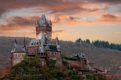 Cochem do castelo fotografia de stock