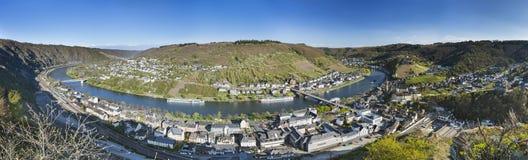 Cochem en de Valleimening van Moezel, Duitsland Stock Afbeeldingen