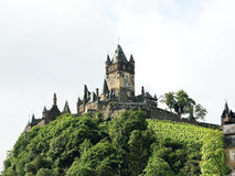 Cochem Imperial castle on green hill in Germany Stock Photo