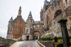 Cochem Imperial castle The Reichsburg Cochem. Courtyard of the Cochem Imperial castle The Reichsburg Cochem royalty free stock photos