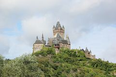 The Cochem Imperial Castle (Reichsburg), Germany. Stock Photo