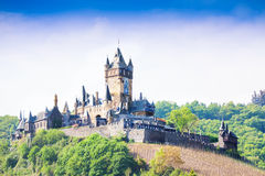 Cochem Imperial Castle on the top of a hill Stock Photo