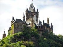 Cochem imperialistisk slott i Tyskland Royaltyfri Fotografi