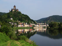 Cochem With Its Castle On River Moselle Royalty Free Stock Photography