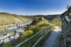 Cochem kullar och Moselle, Tyskland royaltyfri foto