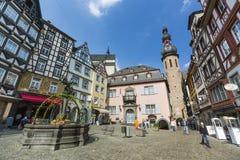 Cochem marknadsfyrkant, Tyskland, ledare Royaltyfri Bild