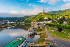 Cochem and Mosel River in Germany Stock Images