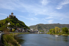 Cochem in the Mosel Valley stock photos