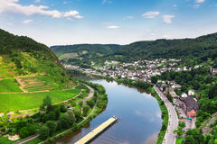 Cochem on the Moselle river Stock Photography