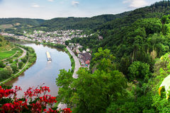 Cochem on the Moselle river Stock Photos