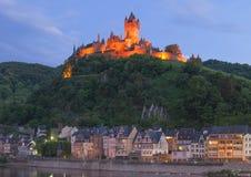 Cochem, rivière de la Moselle, Allemagne photos stock