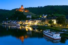 Cochem-Schloss in Cochem, Deutschland Lizenzfreie Stockbilder