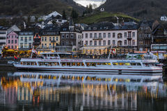 Cochem Ship at Boulevard at the Mossele Royalty Free Stock Photography