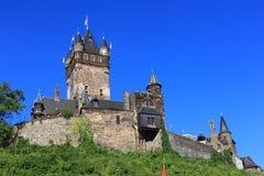 Cochem slott - reichsburgcochem Arkivfoto