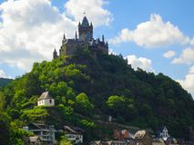 Cochem stad på Mosellen arkivfoto