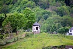 Cochem Tyskland på kusterna av floden Moselle royaltyfria foton
