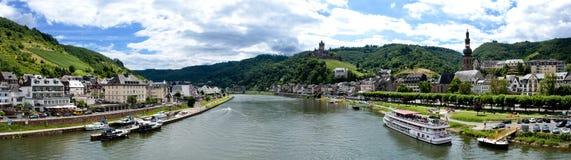 Cochem und Mosel-Fluss Lizenzfreies Stockfoto