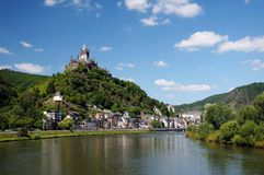 Cochen Castle. Germany and Mosel river Royalty Free Stock Images