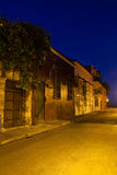 Cochera del Hobo Street. In Cartagena de Indias at Night Stock Photos