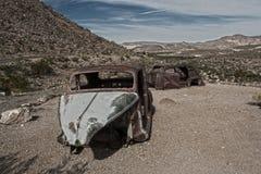 Coches abandonados Imagenes de archivo