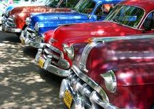 Coches americanos de la vendimia en La Habana, Cuba Imagenes de archivo