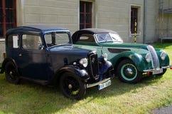 Coches antiguos - Austin Seven, BMW imagen de archivo libre de regalías