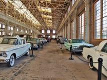 Coches antiguos en Carolina Transportation Museum del norte Imagen de archivo