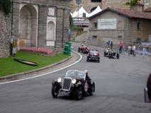 Coches clásicos en Bérgamo Foto de archivo libre de regalías