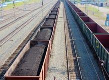 Coches con el carbón Foto de archivo libre de regalías