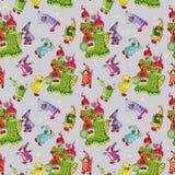 Coches de bebé fijados juguetes divertidos del bebé colección del garabato ilustración del vector