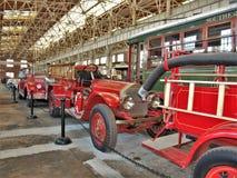 Coches de bomberos antiguos en Carolina Transportation Museum del norte Foto de archivo
