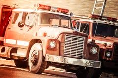 Coches de bomberos del vintage Imagen de archivo libre de regalías