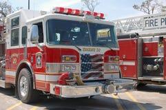 Coches de bomberos - parrilla patriótica Fotos de archivo