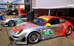 Coches de carreras de Porsche Fotos de archivo libres de regalías