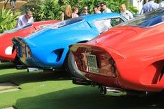 Coches de carreras del gto de Ferrari en una formación Imagen de archivo libre de regalías