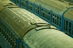 Coches de carril abandonados Foto de archivo