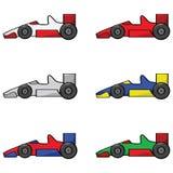 Coches de competición ilustración del vector