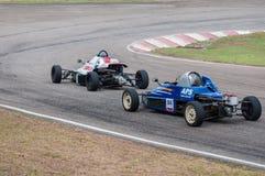 Coches de competición F1 en Sri Lanka Foto de archivo